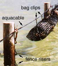 closeup of als showing risers and bag clips
