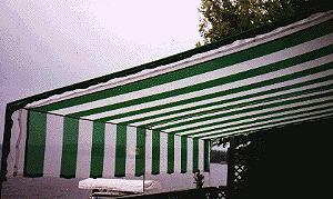 Shade/Wind Cloth in use